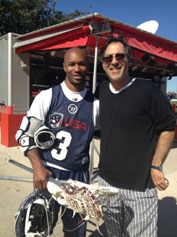 Michael Wallman with Chazz Woodson of the Ohio Machine (Major League Lacrosse)