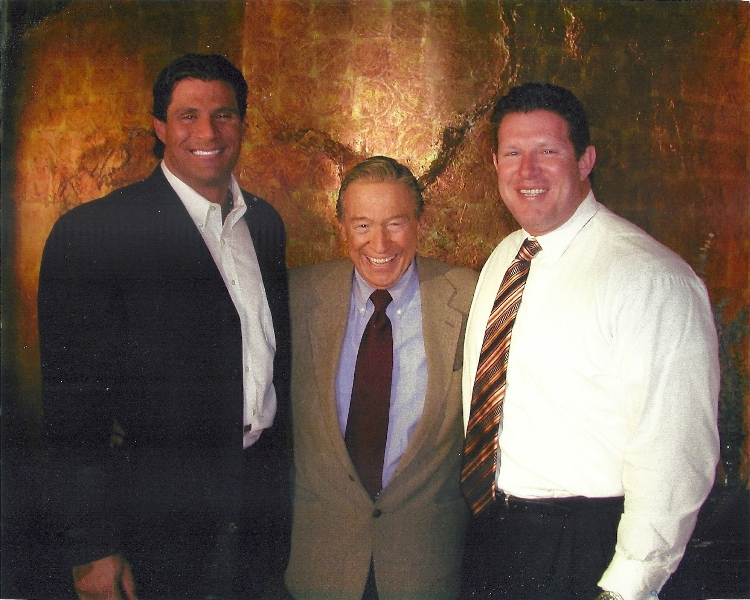 Mike Wallace of 60 Minutes, Jose Canseco and Robert Saunooke (attorney at law-Saunooke Law Firm)