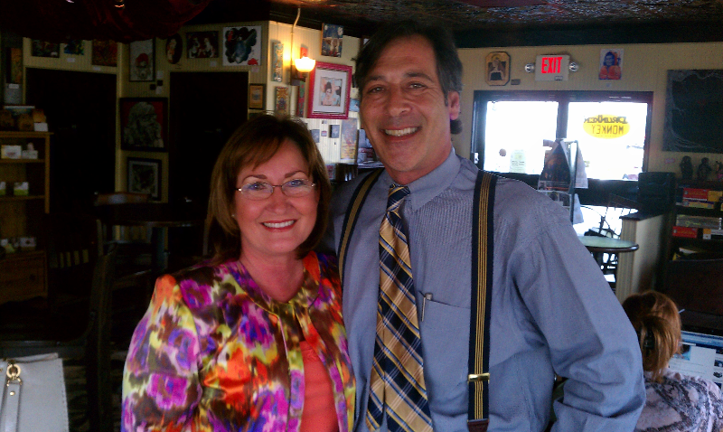 Michael Wallman with Orange County Mayor Teresa Jacobs