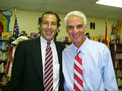 Michael Wallman and Florida Governor Charlie Crist