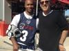 Michael Wallman with Chazz Woodson of the Ohio Machine (Major League Lacrosse)