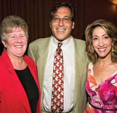 Michael Wallman and Sally Hayman Miami Dade County Commissioner and Glenna Milberg WPLG Channel 10 News Correspondent
